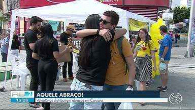 'Você não está sozinho' realiza ação em alusão ao Setembro Amarelo em Caruaru - Campanha aconteceu das 8h às 12h, na Estação Ferroviária.