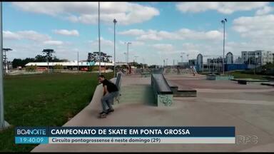 Campeonato de skate movimenta o domingo (29) em Ponta Grossa - Evento é de graça para o público.