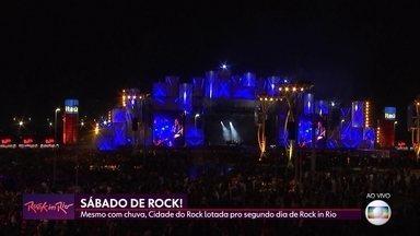 Cidade do Rock está lotada no segundo dia de Rock in Rio - Cidade do Rock está lotada no segundo dia de Rock in Rio.