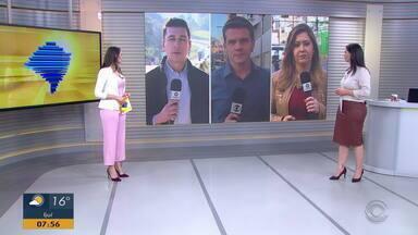Confira informações de cidades do RS no 'Giro de Notícias' - Assista ao vídeo.