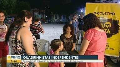 Evento reúne quadrinistas independentes no Centro de Manaus - Largo de São Sebastião foi palco de exposição de ilustrações.