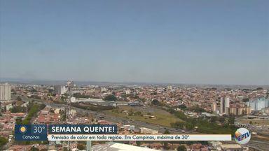 Confira a previsão do tempo para a região de Campinas nesta segunda-feira (30) - Veja a temperatura prevista para as cidades da região nesta segunda-feira (30).