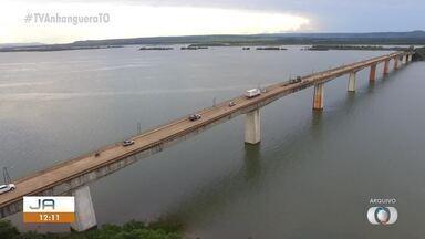 Ponte de Porto Nacional é interditada temporariamente para avaliação - Ponte de Porto Nacional é interditada temporariamente para avaliação