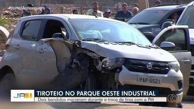 Suspeitos de arrastão morrem em confronto com a PM, em Goiânia - Em vídeo é possível escutar dezenas de tiros.