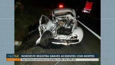 Dois homens morrem em acidentes na BR-376 e na PR-561 - Batidas foram registradas no domingo (29).