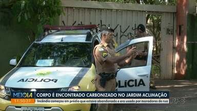 Corpo é encontrado carbozinado no Jardim Aclimação - Caso foi registrado na manhã de hoje (30).