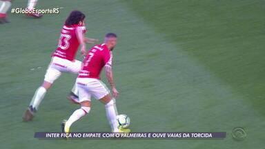 Inter fica no empate com o Palmeiras e ouve vaias da torcida - Assista ao vídeo.