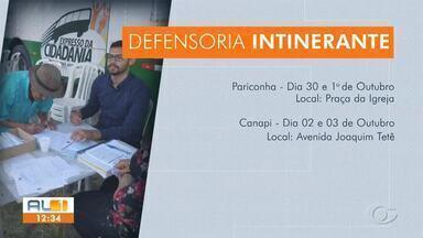 Expresso da Cidadania leva atendimento para o interior - Ônibus itinerante estará em Pariconha e Canapi até quinta (3).