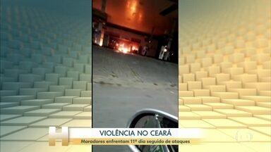 Novos ataques são registrados no Ceará - Já são 109 ações criminosas em 28 cidades do Estado.