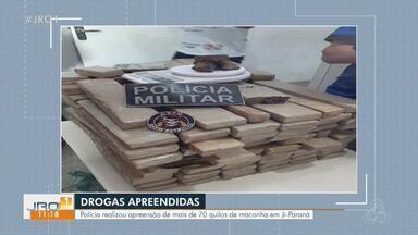 Em Ji-Paraná mais de 70 Kg de maconha também foram apreendidos - Em Ji-Paraná mais de 70 Kg de maconha também foram apreendidos