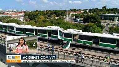 Maquinistas do VLT que ficaram feridos em acidente continuam internados - Saiba mais no g1.com.br/ce