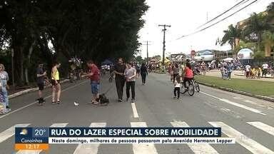 Rua do Lazer teve o tema mobilidade - Rua do Lazer teve o tema mobilidade