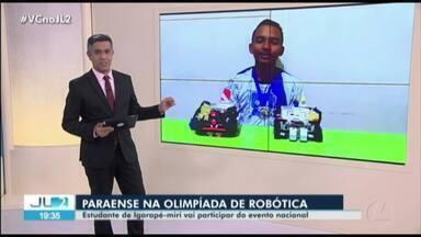 Estudante paraense cria robô que pode ajudar a localizar vítimas de desastres - Jobson Tenório, de 16 anos, é aluno de uma escola estadual de Igarapé-Miri, no nordeste do Pará.
