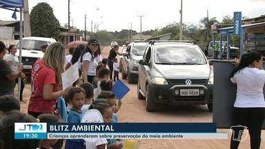 Blitz ambiental é realizada no Centro Municipal de Educação Infantil em Santarém - Ação ensinou a crianças como preservar o meio ambiente.