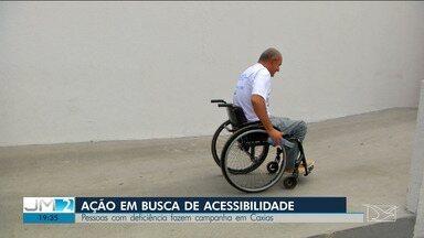 Campanha a favor dos direitos das pessoas com deficiência é realizada no MA - Ação foi realizada nesta segunda (30) no centro de Caxias.