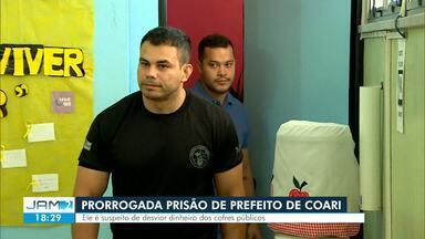 Justiça prorroga prisão temporária de Adail Filho, prefeito de Coari - Deputada estadual Mayara Pinheiro (PP), irmão de Adail Filho, também é investigada. Os dois são filhos de Adail Pinheiro acusado de comandar uma rede de pedofilia.