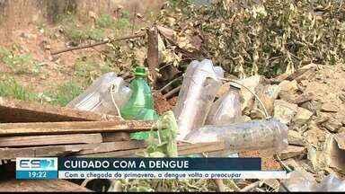Chegada da primavera aumenta cuidado com casos de dengue, no ES - Estação tem como características dias com temperaturas mais altas e chuvas.