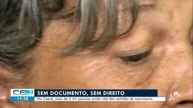 No Ceará, mais de 4 mil pessoas ainda não têm certidão de nascimento - Confira mais notícias em g1.globo.com/ce