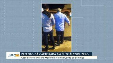 Prefeito se revolta com blitz e dá carteirada em Sena Madureira - Prefeito se revolta com blitz e dá carteirada em Sena Madureira