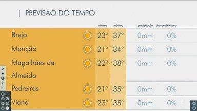 Veja as variações das temperaturas no Maranhão - Confira previsão do tempo nesta terça-feira (1º) em São Luís e também no interior do estado.