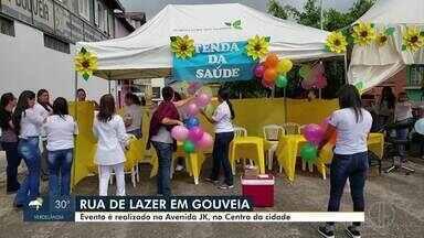 Projeto de lazer para a população é realizado em Gouveia - Evento comemora a prévia do aniversário da cidade, com várias atividades de lazer. A festa é realizada no Bairro JK, no Centro da cidade.