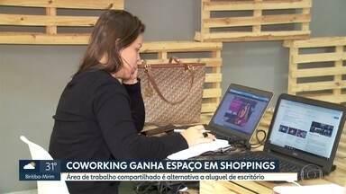Coworking, as áreas compartilhadas de trabalho, ganham espaço em shoppings - Marina Proença, especialista em trabalho e empreendedorismo, comenta a tendência e responde perguntas.