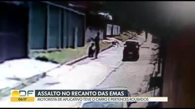 Motorista de aplicativo é assaltado e fica sem o carro no Recanto das Emas - Ele foi ameaçado com uma arma por dois jovens, um deles, menor de idade.Além do carro, o motorista ficou sem carteira e sem o celular.