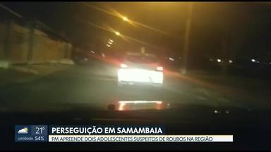 PM apreende adolescentes suspeitos de roubos em Samambaia - Com os jovens, também foram apreendidos três celulares e uma pistola falsa.