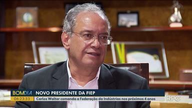 Federação das Indústrias do Estado do Paraná tem novo presidente - Carlos Walter tomou posse e vai comandar entidade por quatro anos.