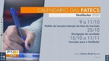 Fatec divulga calendário do vestibular 2020 - Todas as informações também estão disponíveis no site da faculdade.