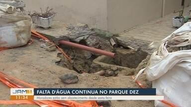 Falta d'água prejudica moradores do bairro Parque Dez, em Manaus - Moradores relatam falta d'água desde sexta-feira.