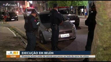 Polícia investiga execução no bairro do Marco, em Belém - Polícia investiga execução no bairro do Marco, em Belém