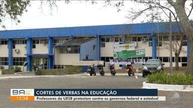 Professores da Universidade Estadual do Sudoeste aderem à greve nacional da educação - A categoria protesta contra o corte de verbas federais para o setor.