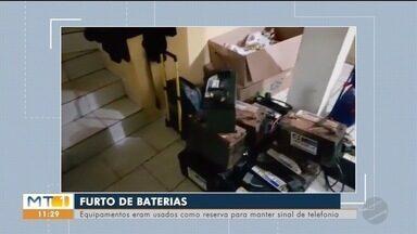 Equipamentos usados para manter sinal de telefonia são furtados em Rondonópolis (MT) - Equipamentos usados para manter sinal de telefonia são furtados em Rondonópolis (MT)