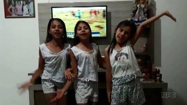 Telespectadores fazem o encerramento do Boa noite Paraná - Você também pode participar mandando o seu vídeo para o 99972-5178