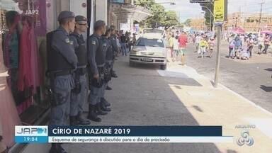 Esquema de segurança é discutido para o dia da procissão do Círio de Nazaré 2019 em Macapá - Ponto alto da festa será no dia 13 de outubro.