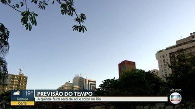 Confira a previsão do tempo para esta quinta-feira (3) - Quinta-feira (03) será de sol e calor no Rio.