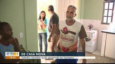 Trabalho voluntário ajuda aposentado com reforma de casa em Cachoeiro, ES - Casa foi reformada e ampliada em Cachoeiro.