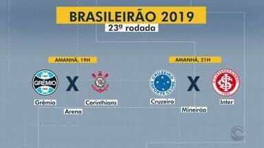 Confira os jogos da dupla Gre-Nal neste sábado (5) pelo Brasileirão - Assista ao vídeo.
