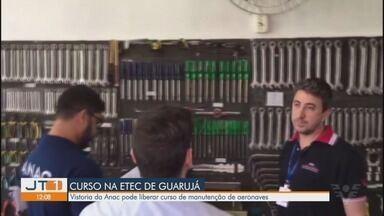 Vistoria da Anac pode liberar curso de manutenção de aeronaves na Etec de Guarujá - Curso havia sido interrompido no começo do ano porque a Anac solicitou mudanças no currículo e algumas adaptações.