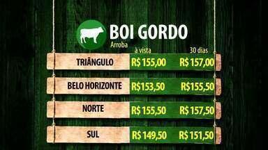 Confira a cotação do boi gordo no Triângulo Mineiro - Veja também dados sobre preços em Belo Horizonte, Sul e Norte de Minas Gerais.