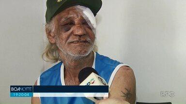 Polícia procura por terceiro suspeito de espancar e roubar idoso em Paiçandu - Dois suspeitos já foram presos pela polícia. Crime foi na noite desta quinta-feira (3), na marginal da BR 376, em Paiçandu.