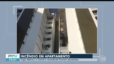 Incêndio em apartamento deixa moradores assustados em Teresina - Incêndio em apartamento deixa moradores assustados em Teresina