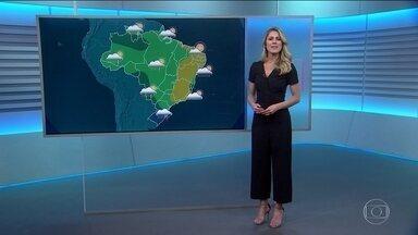 Veja como fica o tempo no sábado (5) - Jaqueline Brazil faz a previsão.