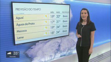 Confira a previsão do tempo para o sábado na região - Confira a previsão do tempo para o sábado na região