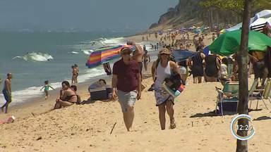 Sábado de sol animou turistas a descerem a serra - Veja com a repórter Vanessa Vantine.