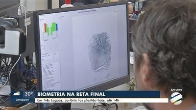 Justiça Eleitoral faz plantão em vários municípios para fazer cadastramento biométrico - Plantão ocorre em cidades como Três Lagoas, Itaporã e Corumbá.
