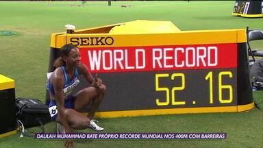 Dalilah Muhammad bate próprio recorde mundial nos 400m com barreiras no Mundial de Atletismo em Doha - Dalilah Muhammad bate próprio recorde mundial nos 400m com barreiras no Mundial de Atletismo em Doha