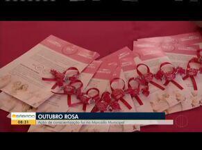 Ações da Campanha Outubro Rosa são realizadas em Valadares - Abertura do evento foi nessa sexta-feira.