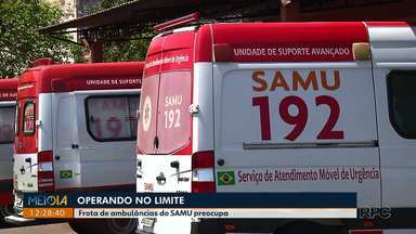 SAMU está operando no limite da frota em Londrina - São 8 ambulâncias rodando e seis reservadas, mas todas as seis ambulâncias estão na oficina. Expectativa é que duas voltem a funcionar na próxima semana.